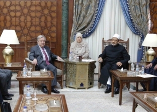 بدء مباحثات الإمام الأكبر مع الأمين العام للأمم المتحدة بمشيخة الأزهر