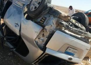 إصابة 4 أشخاص في حادث انقلاب سيارة ملاكي بجنوب سيناء