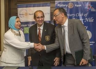 """محافظ """"روتاري"""" شريف والي يعقد بروتوكول تعاون مع """"الوطن"""" لرعاية الأنشطة الخيرية"""