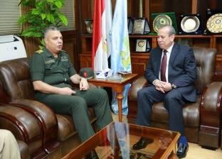 محافظ كفر الشيخ وقائد المنطقة الشمالية يبحثان سبل التعاون المشترك