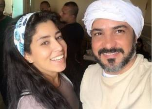 "آيتن عامر تنشر صورتها مع محمد رجب من كواليس ""بيكا"""