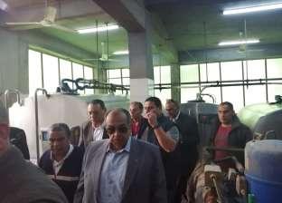 وزير الزراعة يتفقد مزرعة لإنتاج الألبان والمواشي في أبو حماد