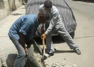 حملات موسعة لإزالة الإشغالات بأحياء شرق ووسط وجمرك الإسكندرية