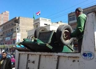 """حملات لإزالة الإشغالات بـ""""سوق الخضار القديم"""" في مرسى مطروح"""