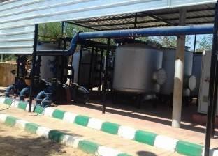 صيانة محطة تنقية مياه الشرب بقرية بغداد في الوادي الجديد