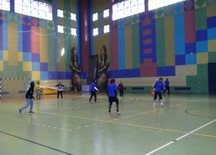 التربية الرياضية بجامعة المنيا تفوز بدوري كرة القدم خماسي للطالبات