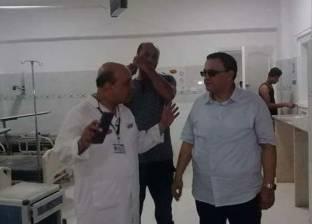 """""""صحة دمياط"""": فيديو اعتداء أفراد أمن مستشفى على ذوي مريض مجتزأ"""