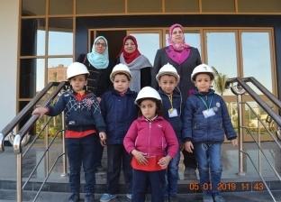 روضة تنظم زيارة للأطفال لمشروع قناطر أسيوط الجديدة لزرع الانتماء
