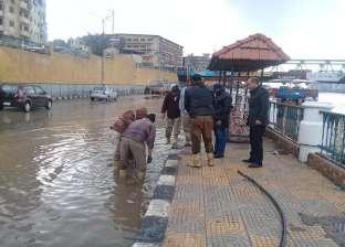 الأمطار تغرق شوارع الدقهلية بعد موجة الطقس السيئ