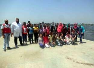 """""""مياه الشرب بسوهاج"""" تنظم رحلة مدرسية لتعريف الطلاب بمراحل تنقية المياه"""