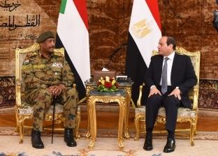 بالصور| السيسي يستقبل رئيس المجلس العسكري الانتقالي السوداني