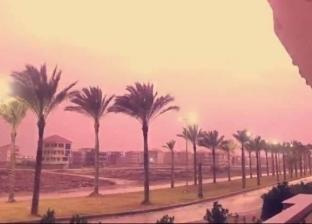 الطقس السيئ يضرب دمياط: أمطار وثلج ورعد (فيديو)