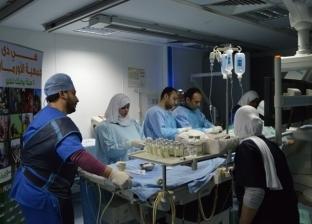 قافلة طبية تجري 11 عملية جراحية بمستشفى أبو كبير المركزي