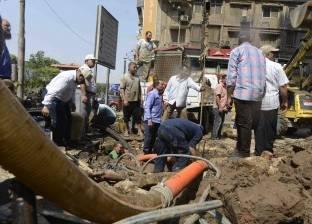 كسر ماسورة يتسبب في قطع المياه بمنطقة غيط الصعيدي وأمبروز بالإسكندرية