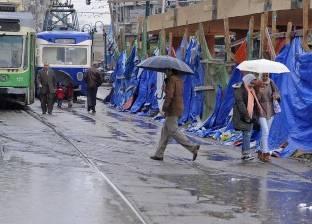"""في ثاني أيام """"النوة"""" الصغرى.. أمطار غزيرة تضرب الإسكندرية"""