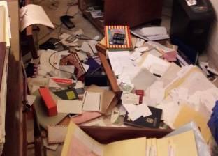 بالصور| آثار اقتحام مكتب محامي عكاشة وسرقته بقصر النيل