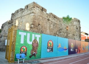 """""""توت"""" تميمة أمم أفريقيا تزين سور الإسكندرية الأثري: """"الماضي والحاضر"""""""