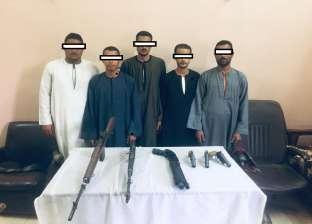 ضبط 6 قطع سلاح ناري غير مرخصة في أبنوب بأسيوط