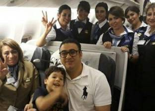 الرائد محمود الكومي يعود إلى القاهرة من لندن بعد رحلة علاج