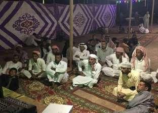 بدو جنوب سيناء يشاهدون مباراة المنتخب في خيام بدوية