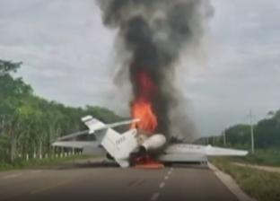 فيديو.. احتراق طائرة مخدرات حاولت الهبوط بشكل غير قانوني بالمكسيك