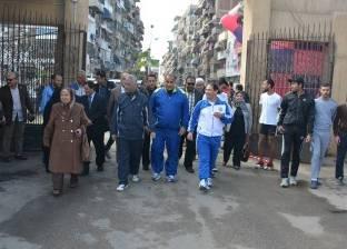 """""""شاهين"""" يشارك في مارثون للجري مع الطلاب وأعضاء هيئة التدريس والعاملين بجامعة بورسعيد"""