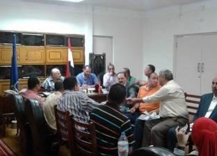 رئيس مدينة دمياط يبحث مع قيادات حزب مستقبل وطن مشاكل المدينة