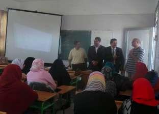 """بالصور  وكيل """"تعليم جنوب سيناء"""" يتفقد قاعات تدريب الدمج بـ""""المعلمين"""""""