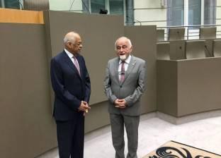 """علي عبدالعال يلتقي رئيس البرلمان """"الفلمنكي"""" في بلجيكا"""