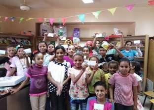 """تكريم المتميزين في """"حصالة"""" لتشجيع القراءة بـ""""أحمد بهاء الدين"""" بأسيوط"""