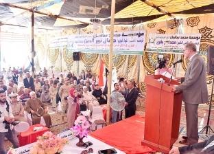 محافظ أسيوط يشهد حفل تكريم أسر شهداء القوات المسلحة والشرطة