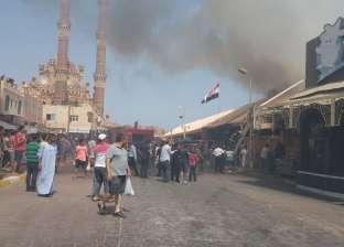 21 سيارة إطفاء للسيطرة على حريق «مصنع مناديل» في أكتوبر