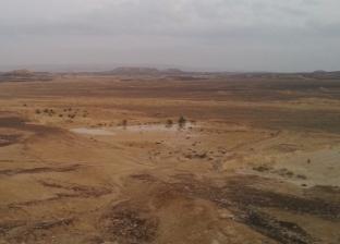 تجمعات لمياه الأمطار بالصحراوي القديم والجيش في المنيا