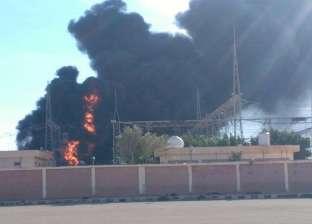 عاجل بالصور  حريق هائل بمحطة كهرباء مطروح.. وانقطاع التيار عن المدينة بأكملها