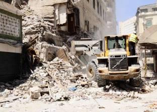انهيار عقار في منطقة المنشية بالإسكندرية