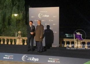 """""""مؤتمر باليرمو"""" يعلن دعم رعاية مصر لحوار بناء المؤسسة العسكرية الليبية"""