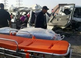 إصابة 4 أشخاص في تصادم سيارتين على الطريق الدولي بمدينة الطور
