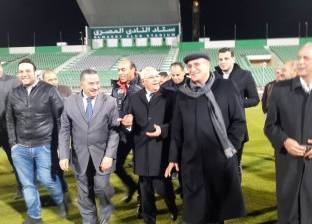 محافظ بورسعيد يتفقد استاد النادي المصري