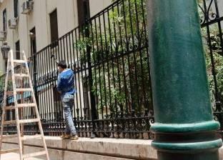 بدء صيانة تمثال سعد زغلول وأسود قصر النيل ودهان أسوار قصر العيني