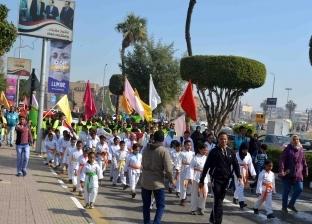 """""""شباب ورياضة الأقصر"""" تنظم مسيرة للمشي احتفالا بعيد الشرطة"""