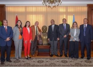 نائب محافظ الإسكندرية يستقبل وفد مدينة كاتنيا الإيطالية