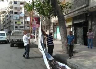 حي شرق بالإسكندرية يشن حملة لإزالة الإعلانات المخالفة