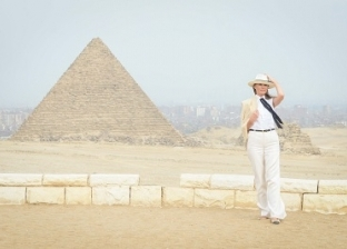 بالصور| ميلانيا ترامب في أهرامات الجيزة