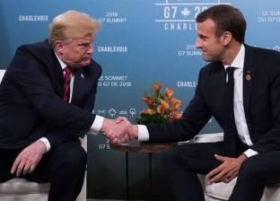 """أجواء تصالحية تسيطر على لقاء """"ماكرون - ترامب"""" في باريس"""