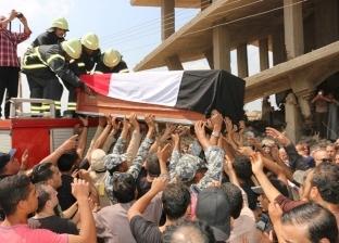 """""""أهالي شمنديل"""" يشيعون جثمان شهيد مجند علاء الدسوقي في المنوفية"""