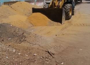 حملة موسعة للنظافة وتمهيد الطرق بمحيط مدارس جناين السويس