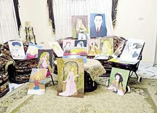 «فاطمة» رسمت 100 لوحة وكتبت 500 قصة وعندها 60 سنة.. وسيناوية