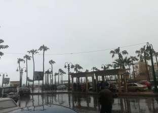 بالصور| أمطار غزيرة تجتاح الإسكندرية