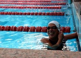 نجوى بطلة سباحة بعد ال٦٠.. العمر مجرد رقم