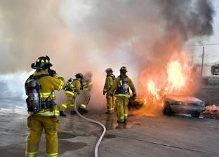 إخماد حريق في أشجار نخيل بمعهد أزهري بسوهاج